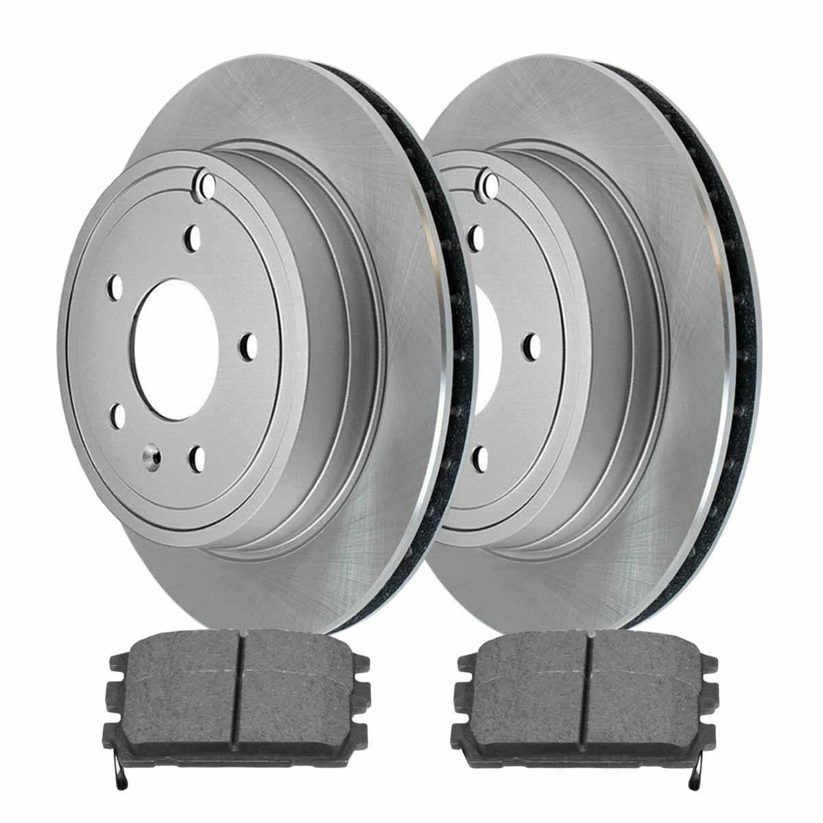 Complete rear kit pair of disc rotors and premium