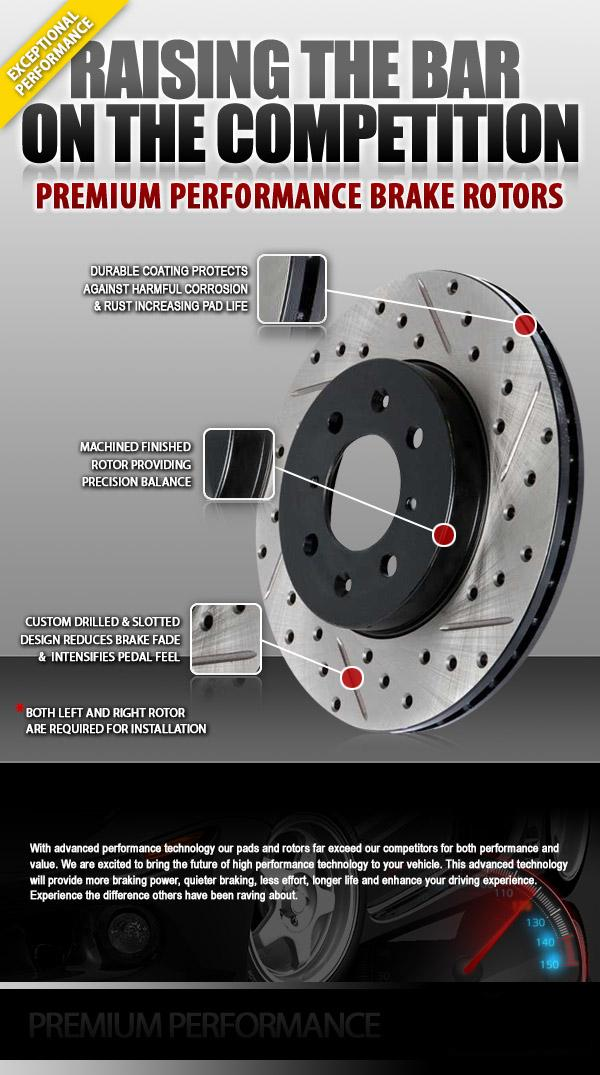 Exceptional performance, Increased performance & stopping power, Premium Performance Brake Rotors