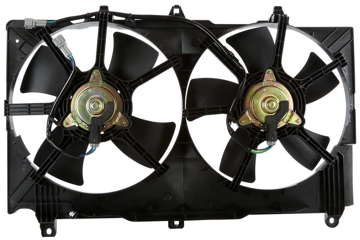 new radiator condenser cooling dual fan for a nissan 350z. Black Bedroom Furniture Sets. Home Design Ideas