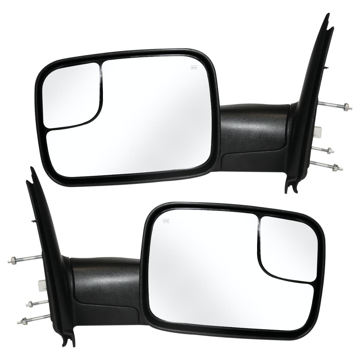 Towing Power Heated Side Mirrors Pair Set For A 02 09