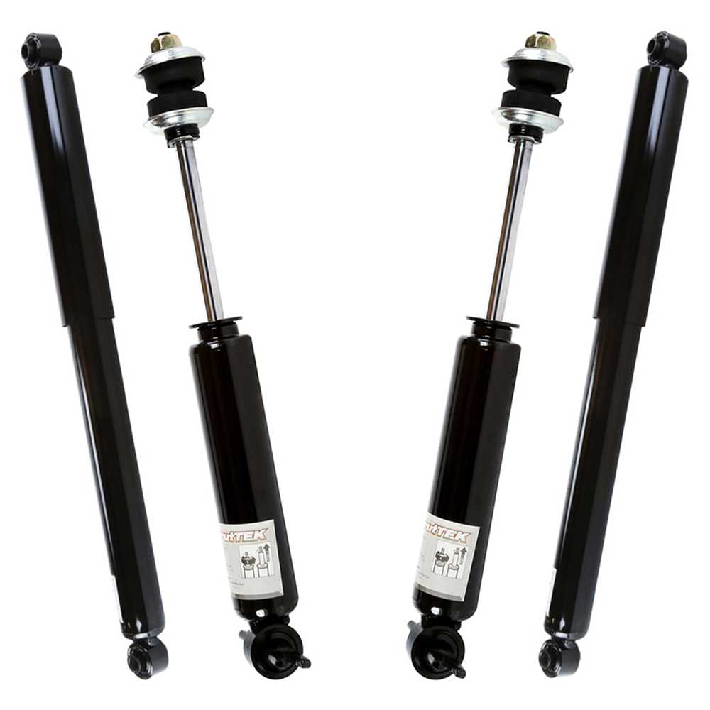 new set of 4 front rear shock absorbers for a 02 08. Black Bedroom Furniture Sets. Home Design Ideas