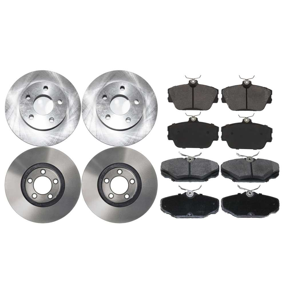 Complete front rear pair disc brake rotors and